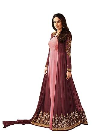 57e8005edf Amazon.com: New Indian/Pakistani Designer Georgette Party Wear Anarkali Suit  Anarkali Gown K2 (Pink, XL-44): Clothing