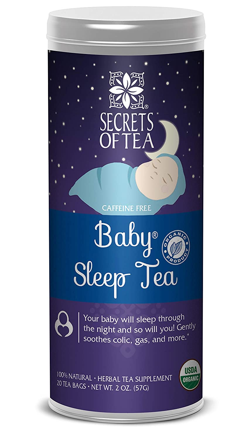 Baby Sleep Tea – Digestive & Colic Prevention Herbal Tea – Soothes Acid Reflux & Newborn Tummy Digestion – Calming, Safe & Healthy Colic Relief Tea – Promotes Better Sleep – 20 Count Secrets of Tea 850302006251