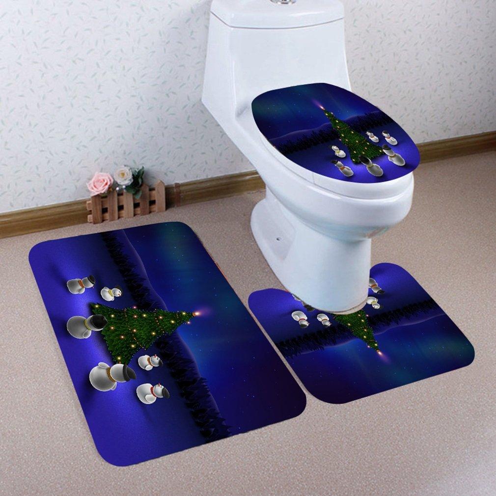 Microfiber 2 Pieces Bathroom Loyal Bath Rug Pedestal Mat Set Beige