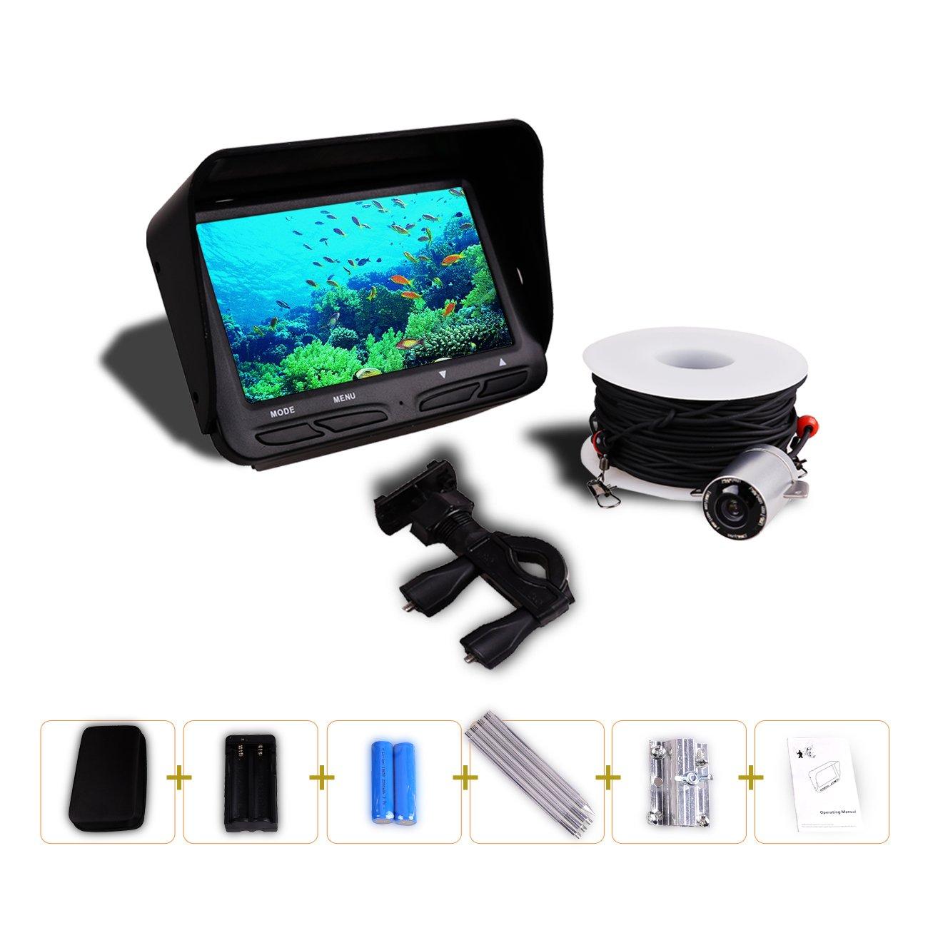 Gobing Fishing Finder , 4.3 inch TFT LCD Fishing Underwater Camera 140 Degree Wide Angle Lens Monitor for Boat,Kayak,Ice,Lake Fishing