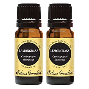 Edens Garden Lemongrass Essential Oil, 100% Pure Therapeutic Grade (Aromatherapy Oils- Inflammation & Pain), 10 ml Value Pack