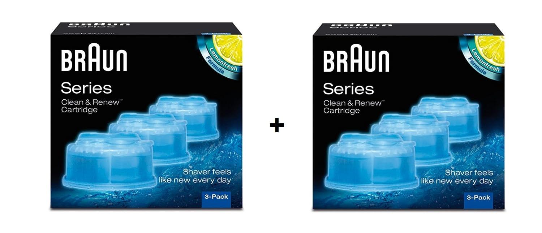 Braun-Lote de 6 recambios de líquido limpiador para sistema Clean ...