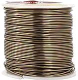Mandala Crafts 12 14 16 18 20 22 规格阳极氧化首饰制作串珠花卉彩色铝工艺线 浅棕色 18 Gauge Code 15