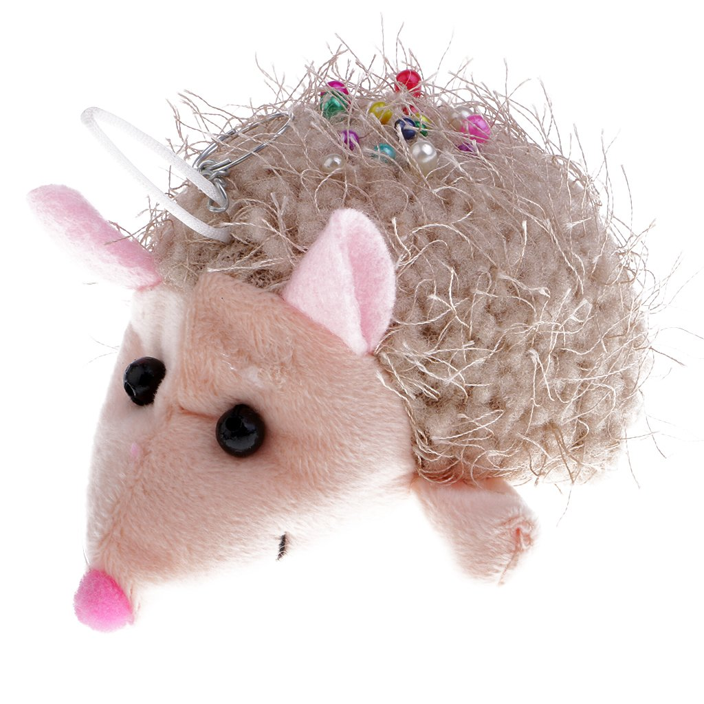 Homyl Lovely Hedgehog Shape Pin Cushion with Pins Sewing Accessories Home Supplies Needle Pin Cushion