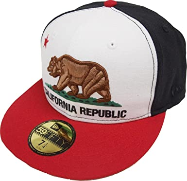 02b1de76 Amazon.com: New Era California Edition Cali Republic White Black Red ...