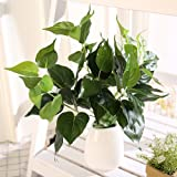 Luyue Kunstpflanze Efeutute, 8Äste, 36cm, Deko für Büro und Zuhause, 2Stück, ohne Topf Part-2
