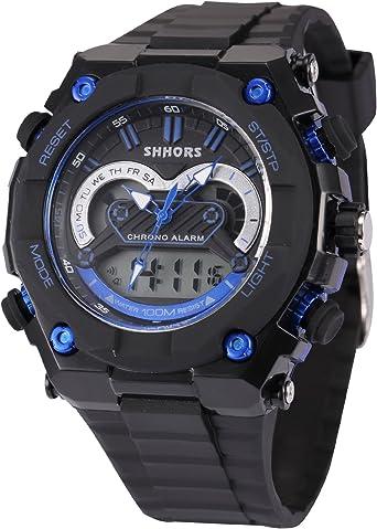 AMPM24 LED178 - Reloj para Hombres, Correa de Silicona Color Negro