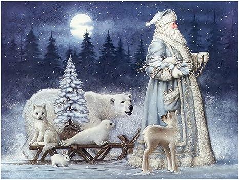Full Drill 5D Diamond Painting Christmas Bear Cross Stitch Kit Embroidery Decors