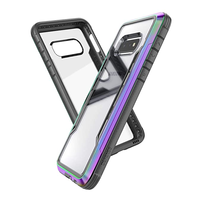buy popular d6fe0 4afc7 X-Doria Defense Shield Series, Samsung Galaxy S10e Phone Case - Military  Grade Drop Tested, Anodized Aluminum, TPU, and Polycarbonate Protective  Case ...