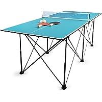 Leomark Compact Table Tennis Mesa de Ping-Pong, Plegable Exterior Portatil fácil Montaje y Transporte Pelotas y Raquetas…