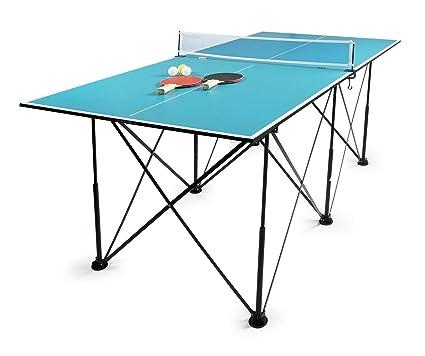 727e8d58915c8 Leomark Compact Table Tennis Mesa de Ping-Pong Plegable Exterior Portatil  fácil Montaje y Transporte