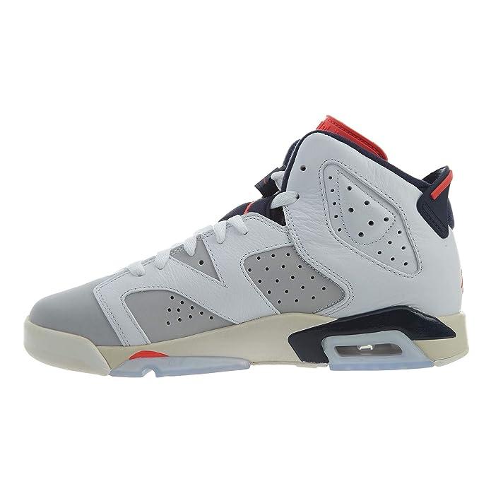 new arrive 8fdc2 c569a Amazon.com   Jordan Kids  Nike Air 6 Retro Bg White Mango Green 384665-114    Basketball