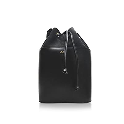 A.P.C. Women's PXBGEF61208LZZNOIR Black Leather Shoulder Bag