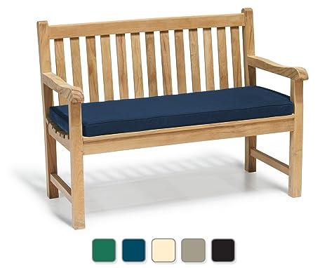 Fantastic York Garden Bench A Grade Teak 1 2M 4Ft Outdoor Bench With Blue Cushion Jati Brand Quality Value Lamtechconsult Wood Chair Design Ideas Lamtechconsultcom