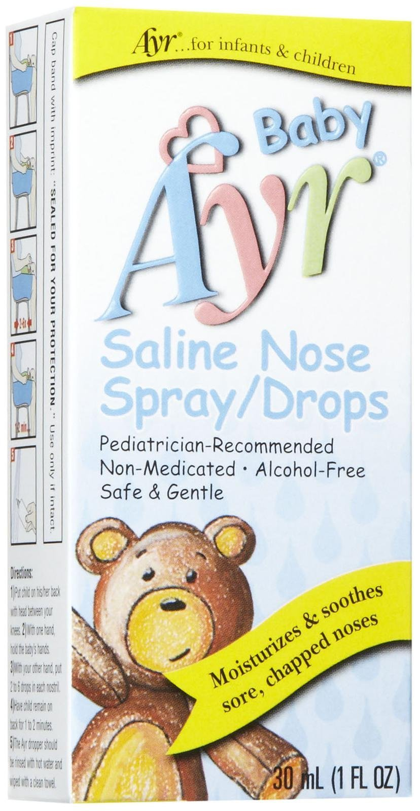 Ayr Baby Saline Nasal Spray/Drops, 1 oz
