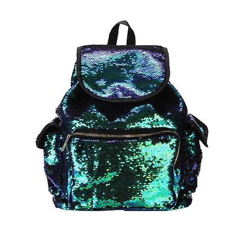ff410bad14 Zaino Paillettes Glitter LUOEM Paillettes Colore Paillettes Glitter ...