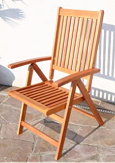7 Fach Verstellbarer, Klappbarer Design Gartenstuhl Aus Eukalyptus Hartholz  Wie Teak LIMA Von AS