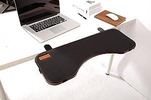 FUZADEL Desk Extender Ergonomic Keyboard Shelf Elbow Rest for Desk Keyboard Tray Armrest Wrist Rest Keyboard Mount Under Desktop Keyboard Tray