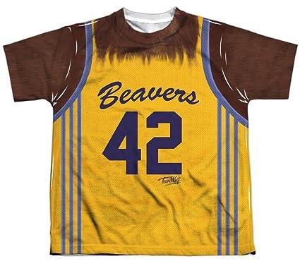 51d719bd4 Amazon.com  A E Designs Kids Teen Wolf Shirt Beavers 42 Sublimation ...