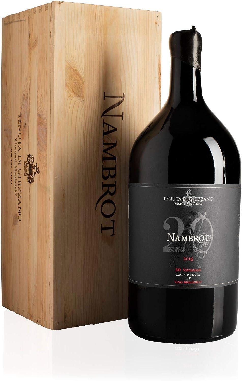 Tenuta di Ghizzano - Nambrot 2016 - Vino tinto italiano IGT Costa Toscana, Fino, Ecológico, Orgánico. Botella Doble Magnum 3 lt con caja de madera: Amazon.es: Alimentación y bebidas