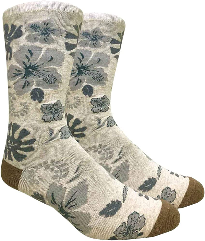 Hawaiian Gift Floral Socks Hand Printed in USA Cute Socks Unique Socks Hawaiian Flowers Paradise Hawaii Socks Tropical Socks