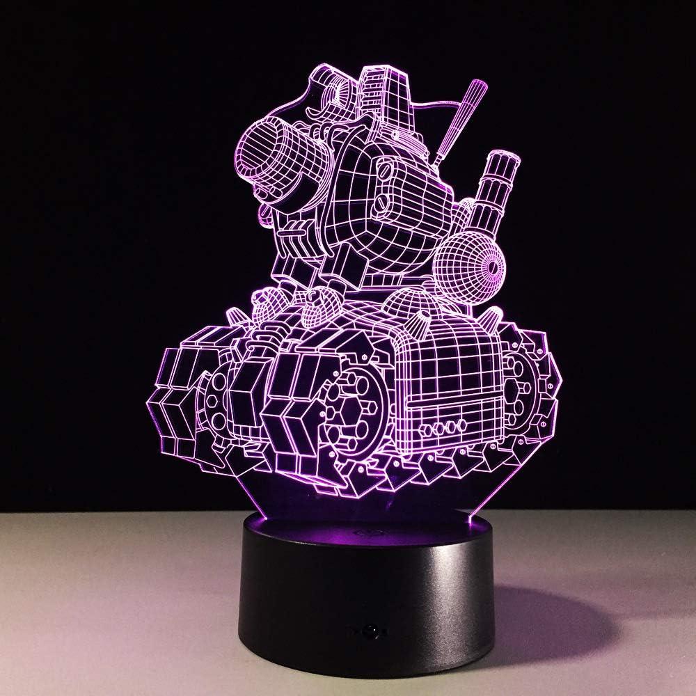 BFMBCHDJ Ilusión visual 3D Lámpara de tanque Luz de noche de ...