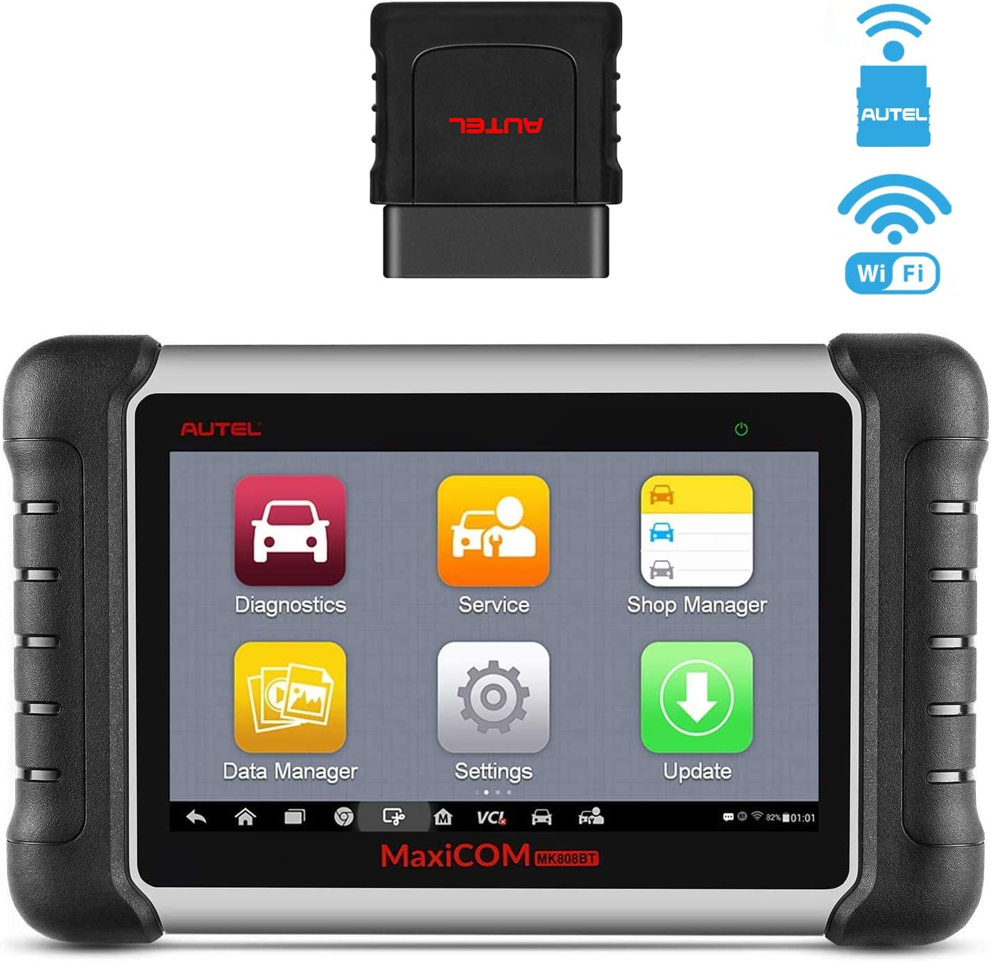 Autel MaxiCOM MK808BT Diagnostic Scan Tool with All System Diagnosis and 21 Services, Oil Reset, EPB, SAS, ABS Bleed, DPF, BMS, Injector Coding, Upgraded Ver. of MK808 (MaxiCheck Pro + MD808 Pro)