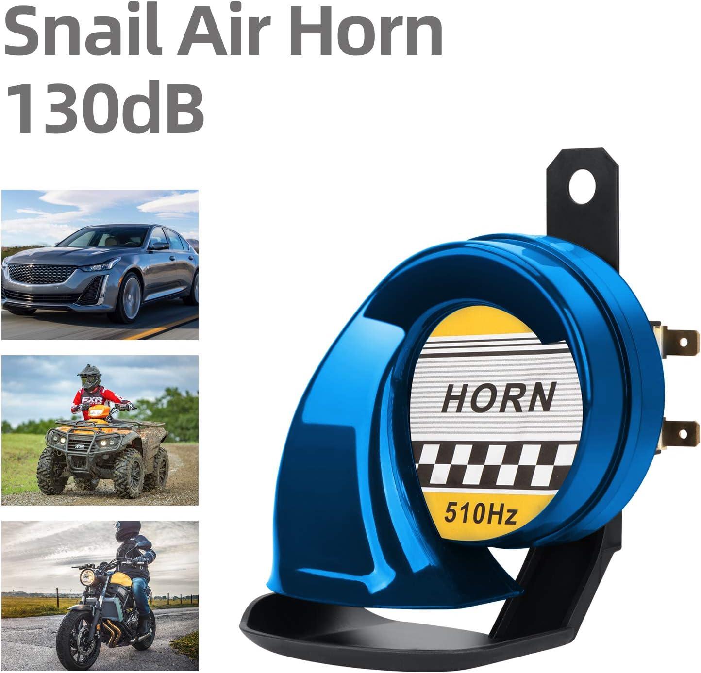 Motorr/äder Fahrr/äder und Boote mit 12V Liefern elektrisches Schnecke Raging Sound f/ür Autos Electric Snail Horn iSpchen 110BD Train Horn for Cars