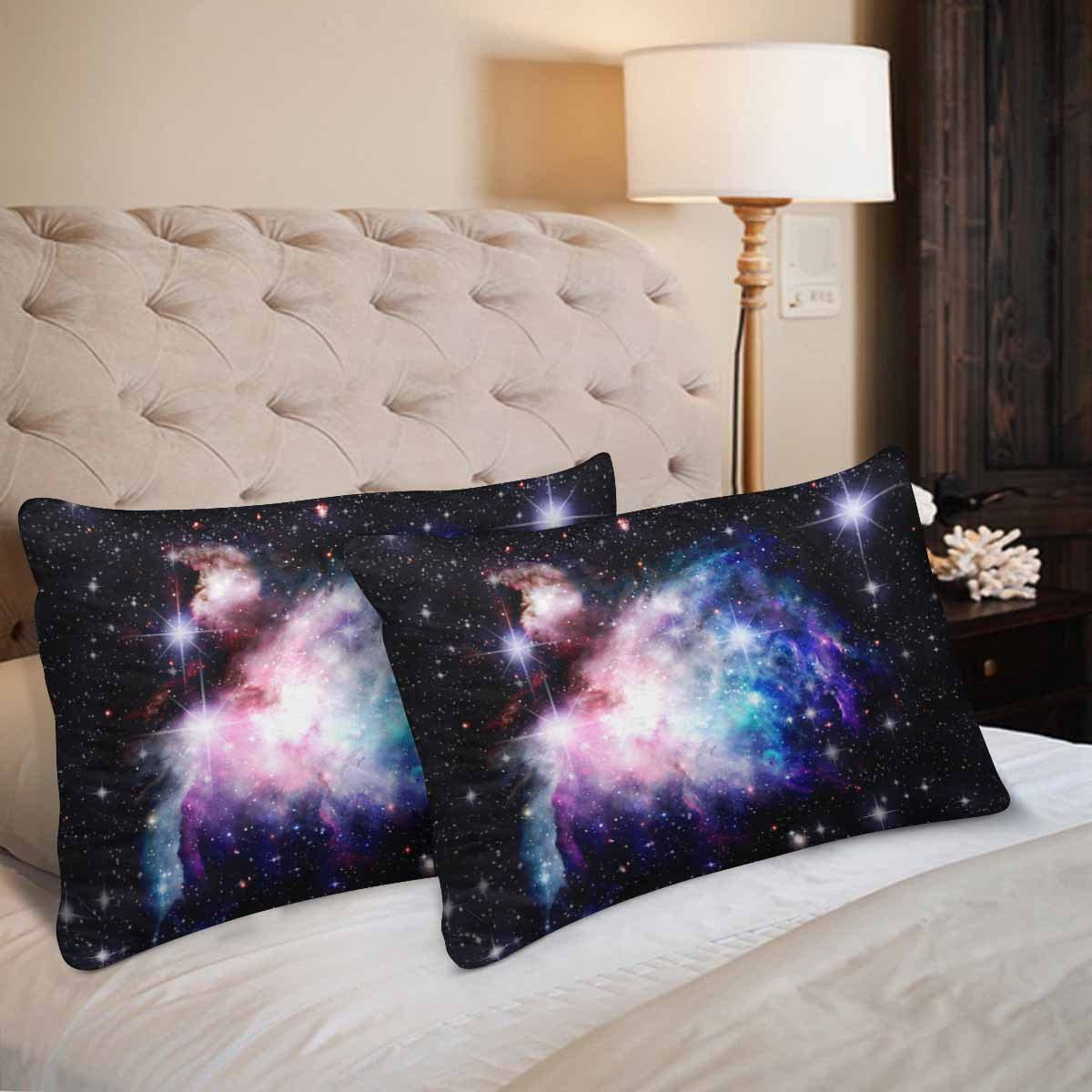 Purple Galaxy Space Pillowcase SOLD INDIVIDUALLY and Silver Pillow Cases Blue