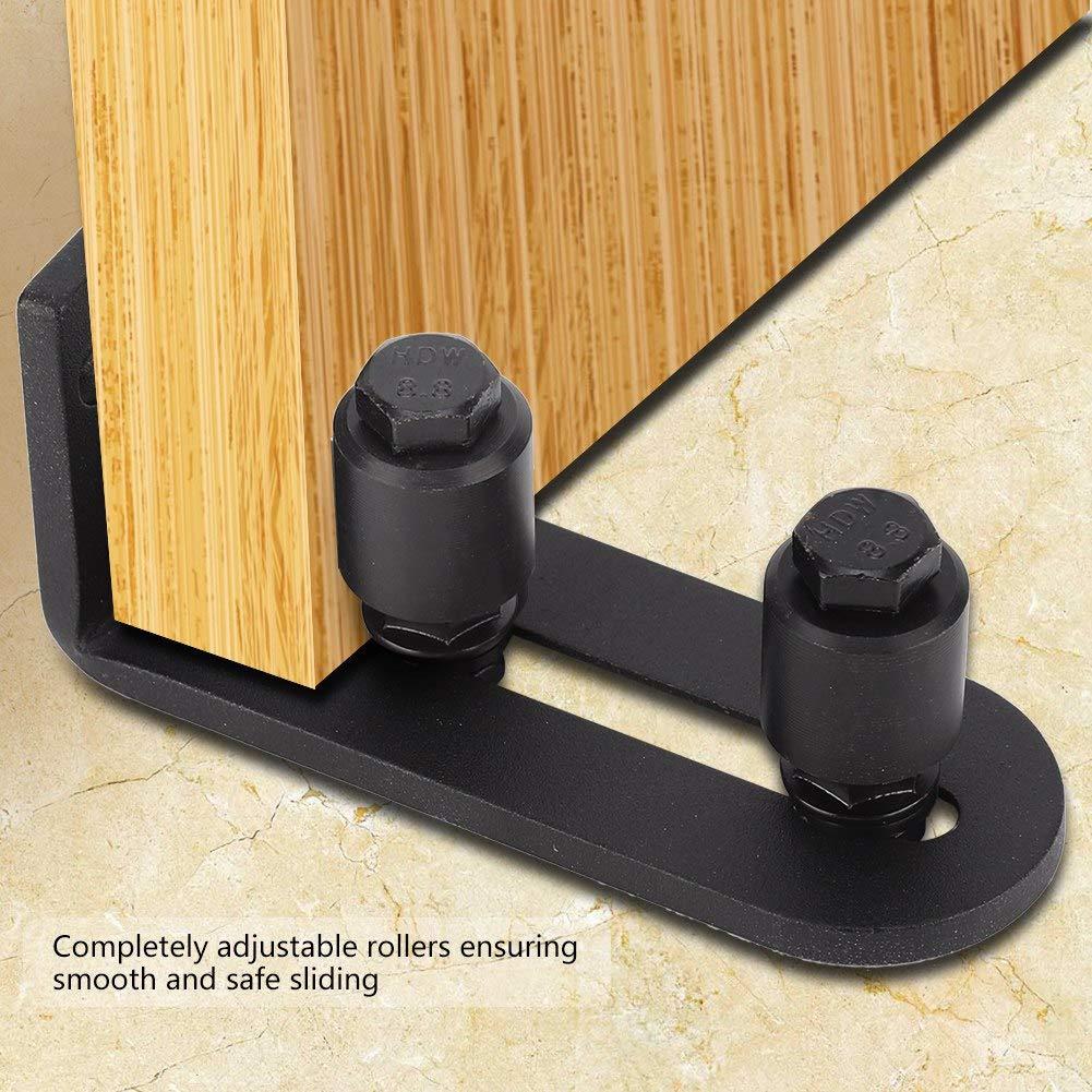 Cafopgrill Guide inf/érieur de Plancher de Porte coulissante pour Portes en Verre sans Cadre de 5 mm d/épaisseur 01