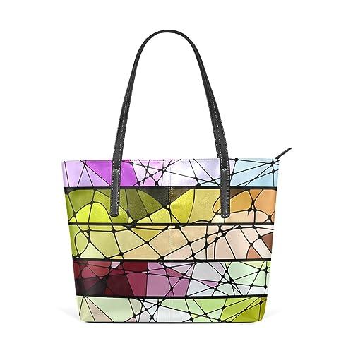 Amazon.com: Para mujer bolsos de piel cuadrados geométricos ...