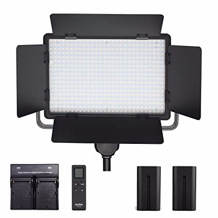 godox led500c kit inclduing light eachshot battery charger led