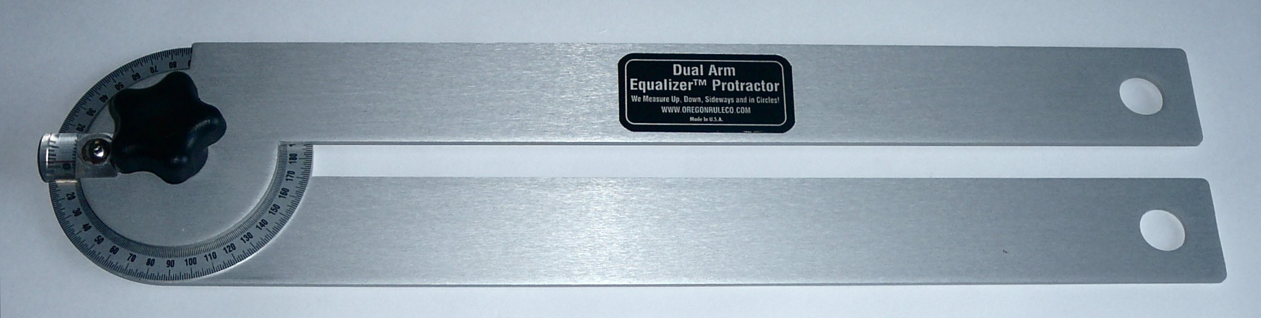Dual Arm Equalizer Protractor – 18 Inch Anodized Aluminum Arms
