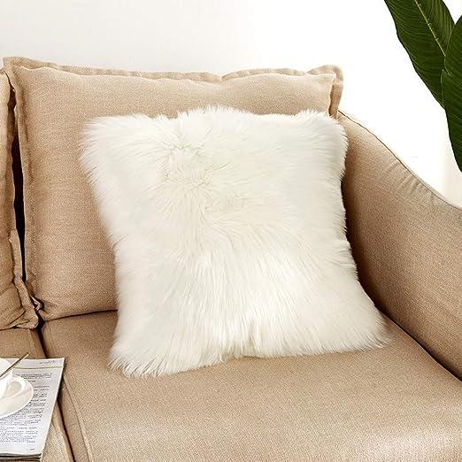 CmNo1 Fundas de Almohada de Pelo sintético Mullido para sofá ...