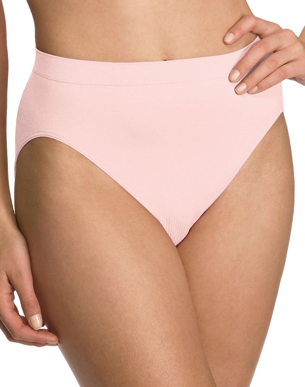 5007b69e8b4 Bali Comfort Revolution Women`s Microfiber Seamless Hi Cut Panty -  Best-Seller! at Amazon Women's Clothing store: