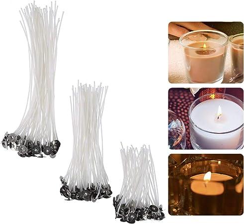 Kerzendochte 150 St/ück vorgewachste Dochte mit 2 Dochthalter zum Kerzen herstellen 9 cm 15 cm und 20 cm lang