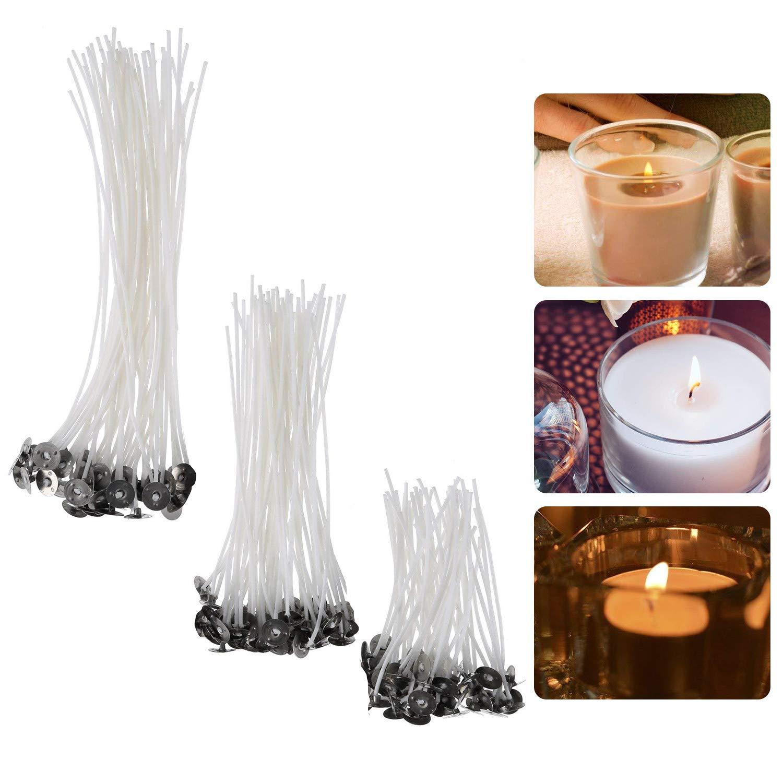 150 mechas enceradas en 3 tamaños diferentes para velas