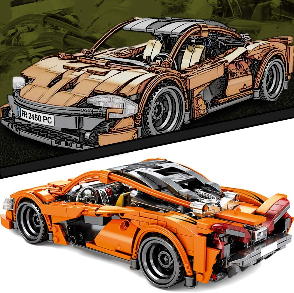Adult Collectible Model Cars Kits to Build Race Car Model Sports Car Building Blocks and Engineering Toy Puzzle