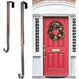 Wreath Hanger,Adjustable Length 14.9-25 Inch Metal Door Hanger,Wreath Hanger for Front Door 20 lbs Larger Christmas…