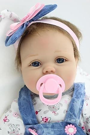 74e5a49b221e1 HOOMAI 22inch 55CM Poupée Reborn Bébé Fille Réaliste Baby Silicone Vinyle  Pas Cher Doll Girl Magnétisme