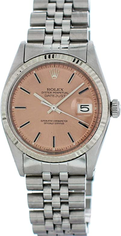 Amazon Com Rolex Datejust Automatic Self Wind Male Watch 1603