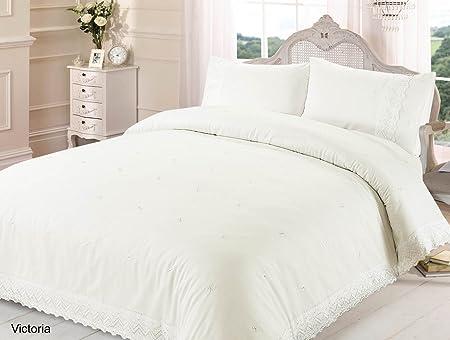 chateau de belle maison lace embroidered duvet cover set cream king
