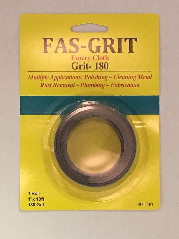 "Fas-Grit 1/"" x 10/' Emery Cloth-Grit 240 Aluminum Oxide Multiple Applications"