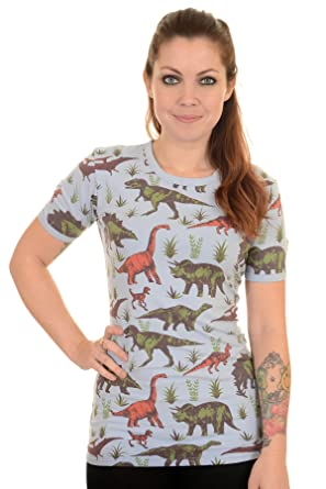 4d70ff1321 Run   Fly Ladies Adventure Dinosaur Hipster T Shirt X-Large  Amazon ...