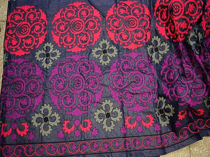 Tela india morada de algodón para coser o hacer vestidos de boda o ...