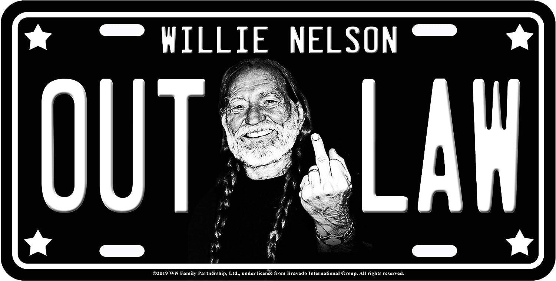 Mittelfinger Midsouth Products Willie Nelson Nummernschild