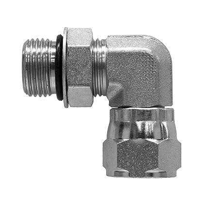 6900-04-08 Hydraulic Adapter 1//4 Male BOSS X 1//2 Female Pipe Swivel Carbon Steel