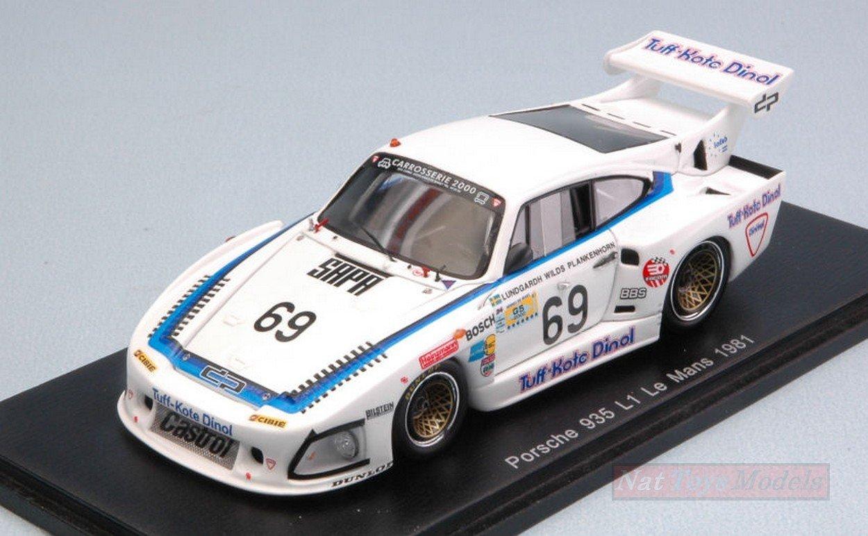 Spark Model S4426 Porsche 935 L1 N.69 DNF LM 1981 LUNDGARDH-PLANKENHORN 1:43