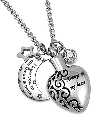 MMC I Love You to The Moon and Back Silver Pendants Necklaces