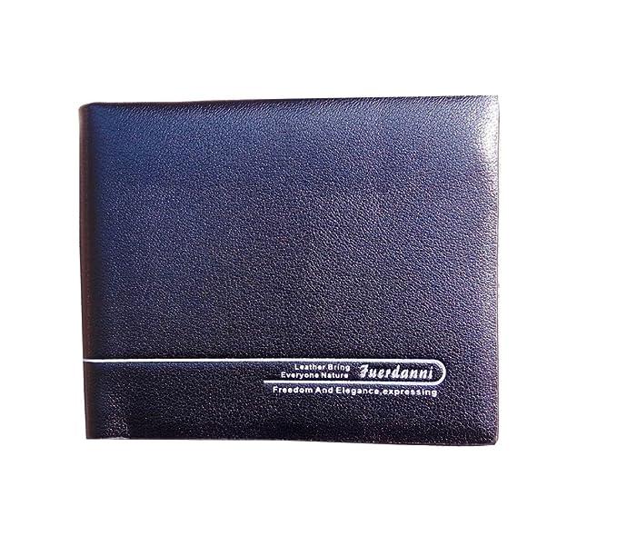 55730491f221 DSANTECH Men's Genuine Leather Wallet Fuerdanni One size Black ...